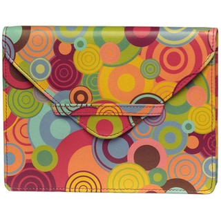 Alicia Klein Leather Bull's Eye Print Envelope
