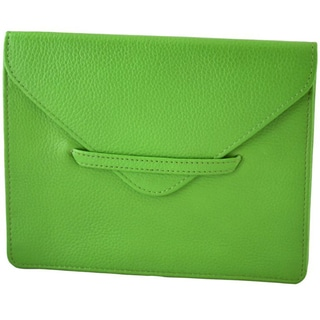 Alicia Klein Grass Green Leather Envelope