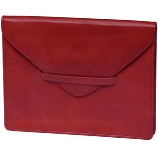 Alicia Klein Pomegranate Leather Envelope