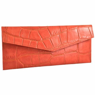 Alicia Klein Cayenne Leather Slim Envelope Wallet