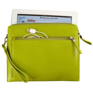 Alicia Klein Lime Green Leather Tablet Sleeve