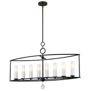 Cameron 42-inch Long English Bronze 8-light Chandelier