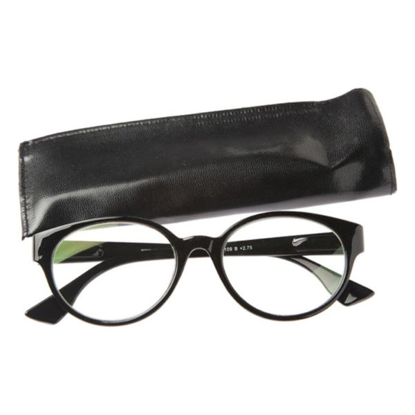 picture of dual power computer reading glasses black frame