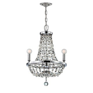 Crystorama Channing Collection 3-light Polished Chrome Chandelier