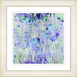 Studio Works Modern 'Outside My Window - Blue' Framed Art Print