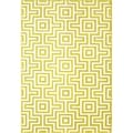 Indoor/Outdoor Green Retro Rug (2'3 x 4'6)