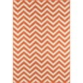 Indoor/Outdoor Orange Chevron Rug (5'3 x 7'6)