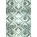 Indoor/Outdoor Blue Retro Rug (2'3 x 4'6)