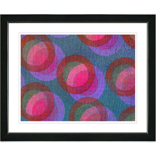 Studio Works Modern 'Circle Series - Red' Framed Art Print