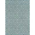 Indoor/Outdoor Blue Retro Rug (7'10 x 10'10)