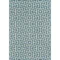 Indoor/Outdoor Blue Retro Rug (7'10 x 10'10)