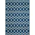 Indoor/Outdoor Navy Morrocan Tile Rug (2'3 x 4'6)