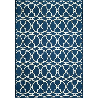 Moroccan Tile Navy Indoor/ Outdoor Rug (1'8 x 3'7)