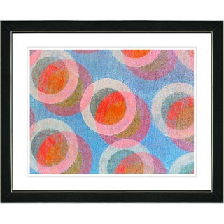 Zhee Singer 'Circle Series - Berry Cream' Black Framed Art Print