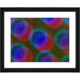 Studio Works Modern 'Circle Series - Dark Blue' Framed Art Print