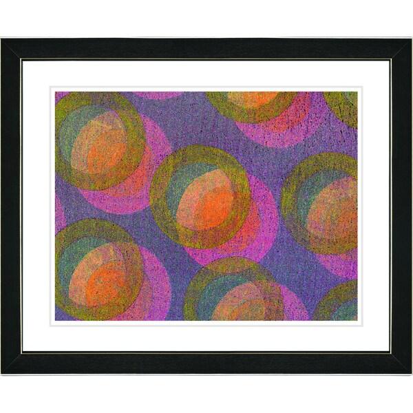 Zhee Singer 'Circle Series - Fruit Punch' Black Framed Art Print