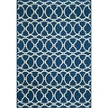 Moroccan Tile Navy Indoor/ Outdoor Rug (8'6 x 13')
