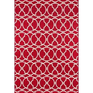 Moroccan Tile Navy Indoor/ Outdoor Rug (7'10 x 10'10)