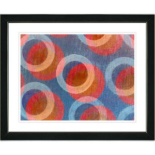 Zhee Singer 'Circle Series - Americana' Black Framed Art Print