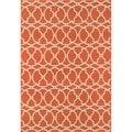 Moroccan Tile Orange Indoor/ Outdoor Rug (1'8 x 3'7)