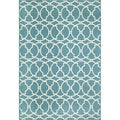 Moroccan Tile Blue Indoor/ Outdoor Rug (2'3 x 4'6)