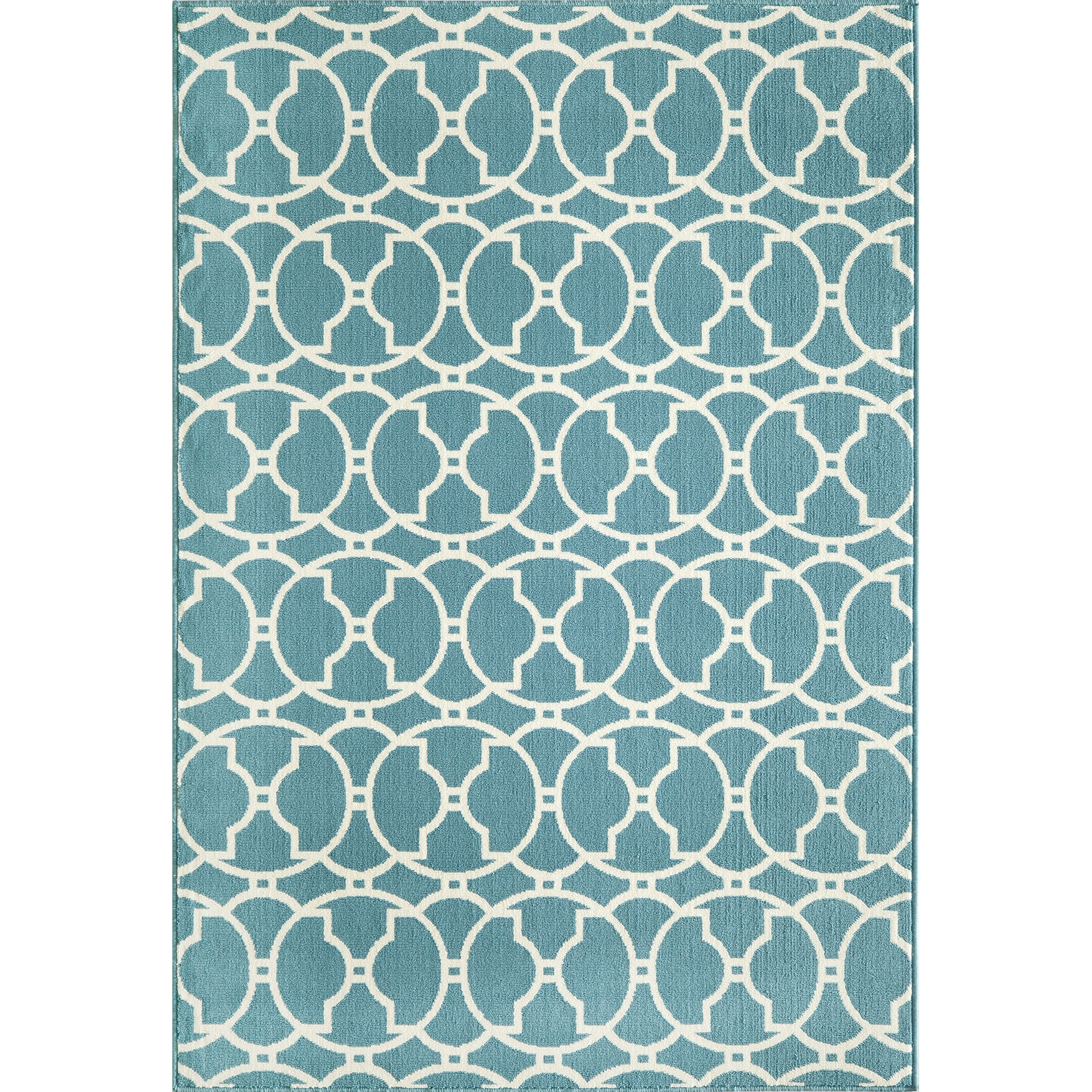 Moroccan Tile Blue Indoor Outdoor Rug 2 3 x 4 6