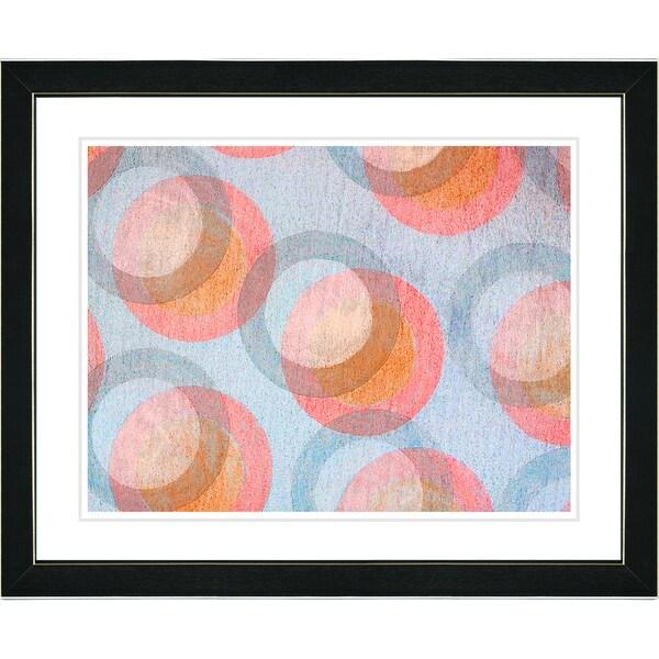 Zhee Singer 'Circle Series - Pastel Peach' Black Framed Art Print