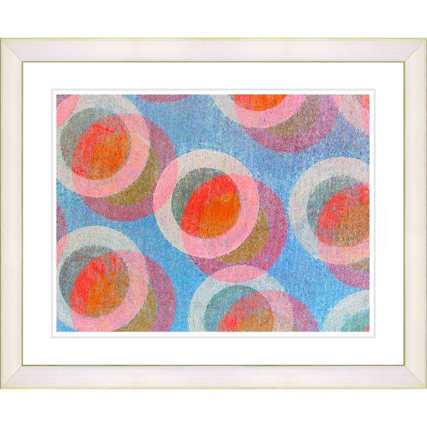 Zhee Singer 'Circle Series - Berry Cream' White Framed Art Print