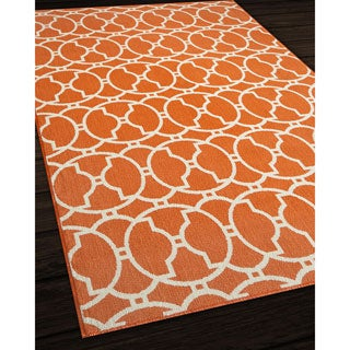 Moroccan Tile Orange Indoor/ Outdoor Rug (7'10 x 10'10)