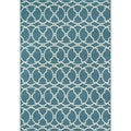 Moroccan Tile Blue Indoor/ Outdoor Rug (8'6 x 13')