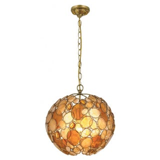 Palla 1-light Antique Gold Leaf Pendant