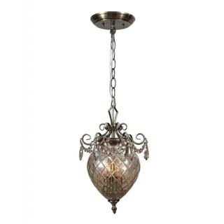 Avery 2-light Antique Brass Pendant
