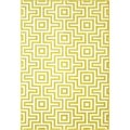 Retro Green Indoor/ Outdoor Rug (3'11 x 5'7)