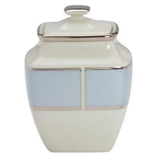 Lenox Blue Frost Square Sugar Bowl with Lid