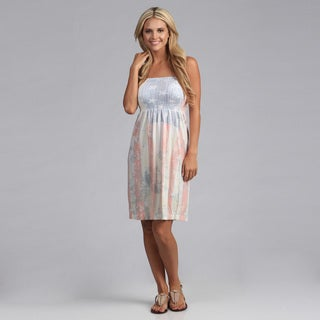 Tabeez Flag Print Strapless Sundress