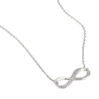 Beverly Hills Charm Sterling Silver 1/6ct TDW Diamond Infinity Necklace (H-I, I2)