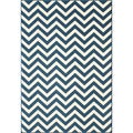 Chevron Navy Indoor/ Outdoor Rug (7'10 x 10'10)