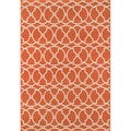 Moroccan Tile Orange Indoor/ Outdoor Rug (3'11 x 5'7)