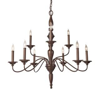 Yorktown Heights 9-light Bronze Chandelier