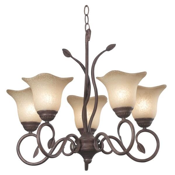 Bartram 5-light Bronze Chandelier