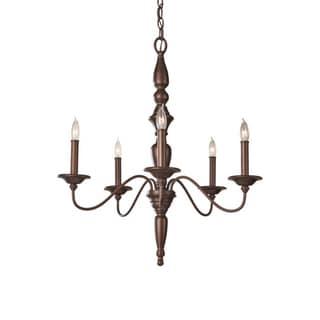 Yorktown Heights 5-light Bronze Chandelier