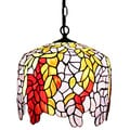 Amora Lighting Tiffany Style Wisteria Hanging Lamp