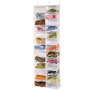 Richards Homewares Clear Vinyl 26-pocket Over the Door Shoe Organizer