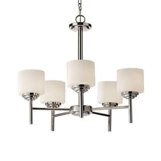 Malibu 5-light Polished Nickel Chandelier