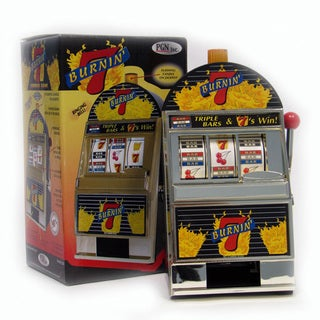 Burning 7's Slot Machine Bank / Spinning Reels