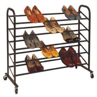 Richards Homewares Bronze Rolling 25-pair Shoe Rack