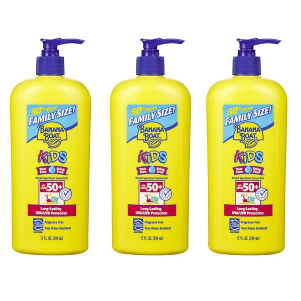 Banana Boat 12-ounce Sunscreen for Kids SPF 50 (Pack of 3)