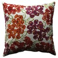 Pillow Perfect Luxury Floral Poppy 18-inch Throw Pillow