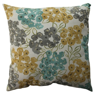 Pillow Perfect Luxury Floral Pool 23-inch Decorative Pillow
