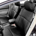 FH Group Custom Fit Black Leather 2006-2011 Honda Civic Seat Covers (Front Set)